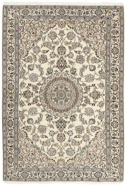Nain 9La Matta 120X177 Äkta Orientalisk Handknuten Ljusgrå/Beige (Ull/Silke, Persien/Iran)