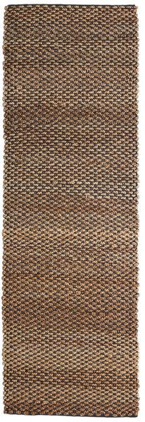 Utomhusmatta Siri Jute - Natural/Svart Matta 80X250 Äkta Modern Handvävd Hallmatta Brun/Mörkbrun (Jutematta Indien)