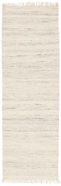 Chinara - Natural/Vit Matta 80X250 Äkta Modern Handvävd Hallmatta Beige (Ull, Indien)