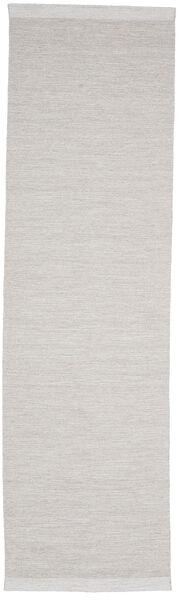 Serafina - Beige_Melange Matta 100X450 Äkta Modern Handvävd Hallmatta Ljusgrå (Ull, Indien)