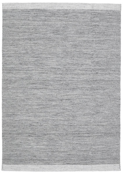 Serafina - Mörkgrå Melerad Matta 160X230 Äkta Modern Handvävd Ljusgrå/Ljusblå (Ull, Indien)
