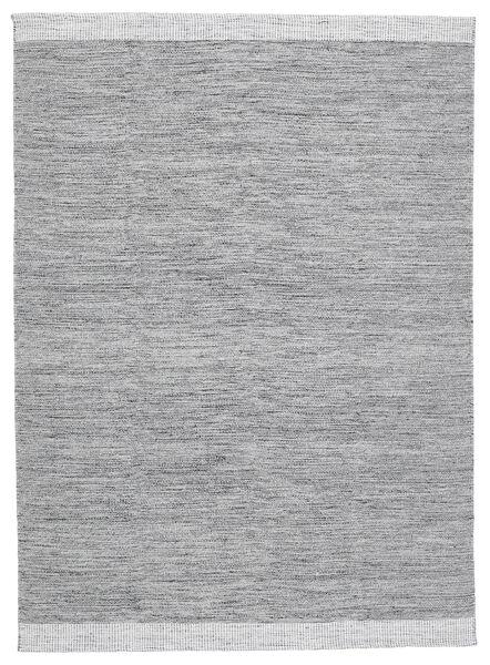 Serafina - Mörkgrå Melerad Matta 140X200 Äkta Modern Handvävd Ljusgrå (Ull, Indien)
