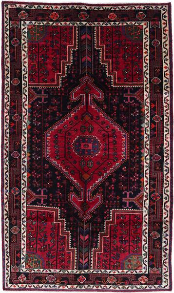 Toiserkan Matta 150X257 Äkta Orientalisk Handknuten Mörkröd (Ull, Persien/Iran)