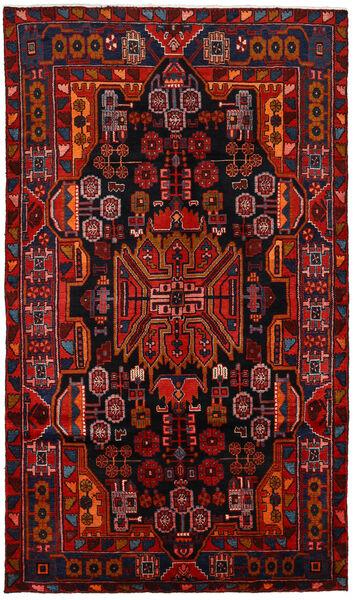 Nahavand Matta 150X260 Äkta Orientalisk Handknuten Mörkbrun/Mörkröd/Roströd (Ull, Persien/Iran)