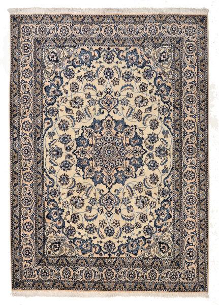 Nain Matta 167X233 Äkta Orientalisk Handknuten Ljusgrå/Mörkgrå/Beige (Ull, Persien/Iran)