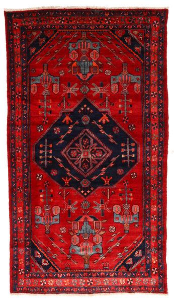 Nahavand Matta 140X255 Äkta Orientalisk Handknuten Roströd/Mörkröd/Svart (Ull, Persien/Iran)