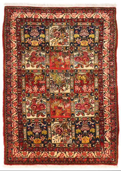 Bakhtiar Collectible Matta 108X150 Äkta Orientalisk Handknuten Mörkbrun/Roströd (Ull, Persien/Iran)