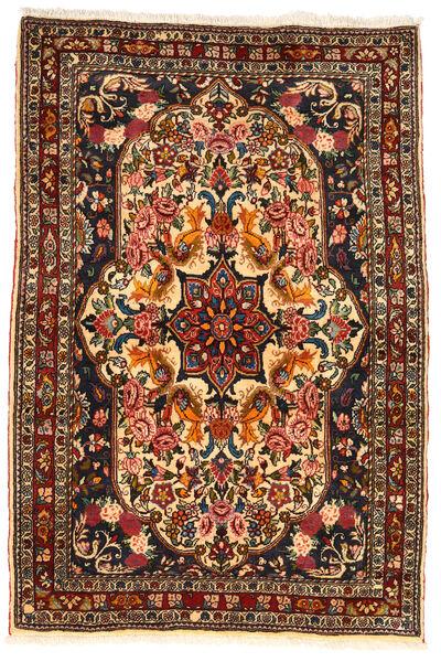 Bakhtiar Collectible Matta 110X165 Äkta Orientalisk Handknuten Mörkbrun/Mörkröd (Ull, Persien/Iran)