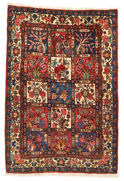 Bakhtiar Collectible Matta 106X152 Äkta Orientalisk Handknuten Mörkröd/Svart (Ull, Persien/Iran)