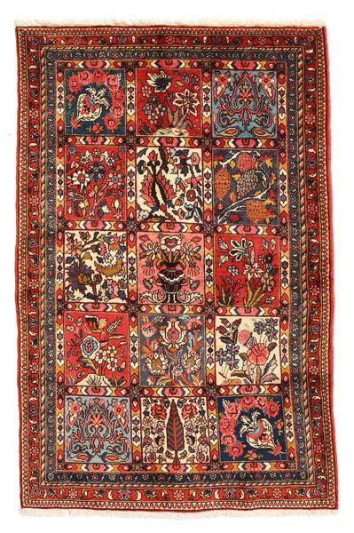 Bakhtiar Collectible Matta 98X150 Äkta Orientalisk Handknuten Mörkbrun/Mörkröd (Ull, Persien/Iran)