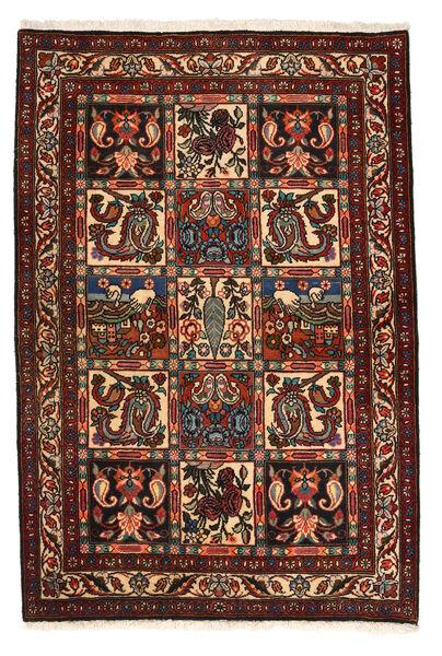 Bakhtiar Collectible Matta 105X158 Äkta Orientalisk Handknuten Mörkbrun/Mörkröd (Ull, Persien/Iran)