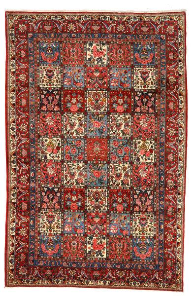 Bakhtiar Collectible Matta 208X318 Äkta Orientalisk Handknuten Mörkröd/Mörkbrun (Ull, Persien/Iran)