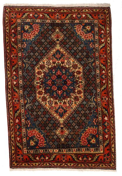 Bakhtiar Collectible Matta 107X160 Äkta Orientalisk Handknuten Mörkbrun/Mörkröd (Ull, Persien/Iran)