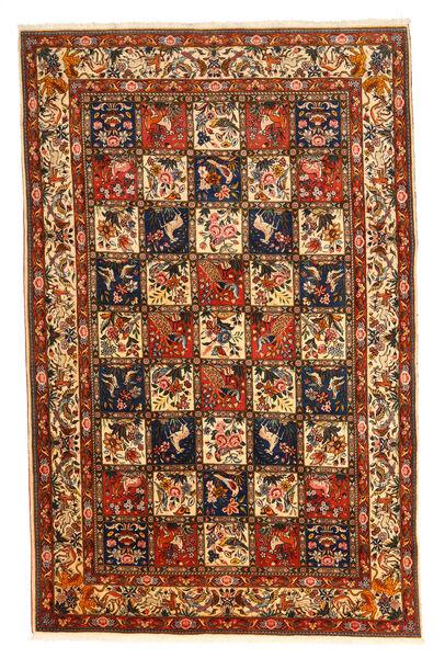 Bakhtiar Collectible Matta 210X323 Äkta Orientalisk Handknuten Mörkbrun/Mörkröd (Ull, Persien/Iran)