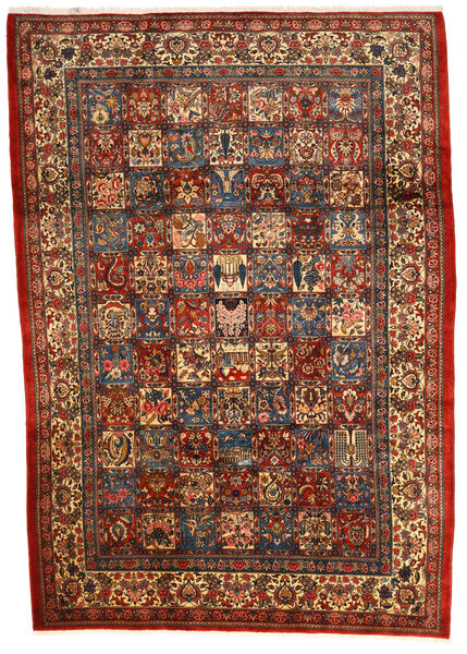 Bakhtiar Collectible Matta 205X300 Äkta Orientalisk Handknuten Mörkröd/Mörkbrun (Ull, Persien/Iran)