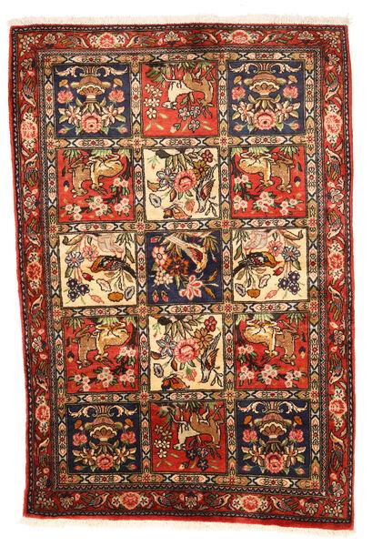 Bakhtiar Collectible Matta 102X154 Äkta Orientalisk Handknuten Mörkbrun/Röd (Ull, Persien/Iran)
