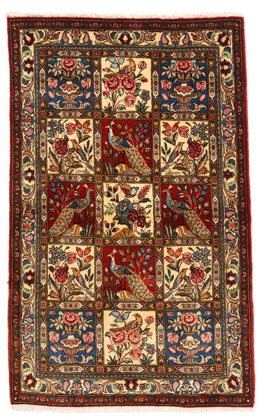 Bakhtiar Collectible Matta 105X168 Äkta Orientalisk Handknuten Mörkbrun/Mörkröd (Ull, Persien/Iran)