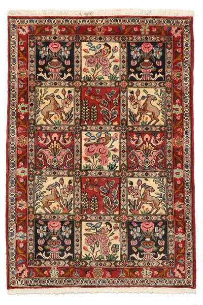 Bakhtiar Collectible Matta 103X150 Äkta Orientalisk Handknuten Mörkbrun/Ljusbrun (Ull, Persien/Iran)