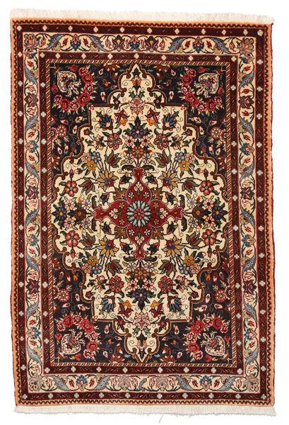 Bakhtiar Collectible Matta 105X156 Äkta Orientalisk Handknuten Mörkbrun/Mörkröd (Ull, Persien/Iran)