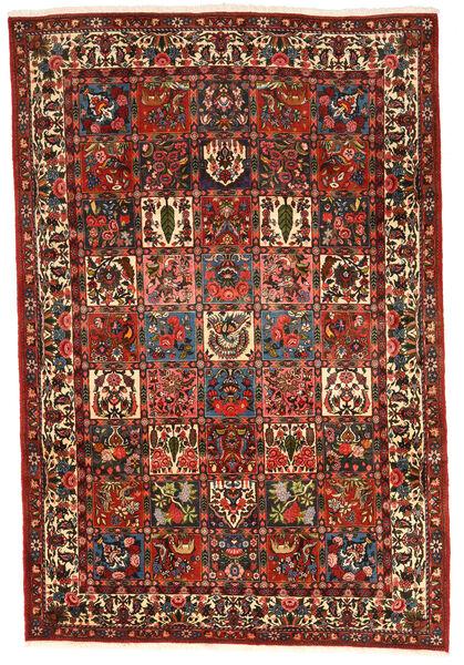 Bakhtiar Collectible Matta 206X306 Äkta Orientalisk Handknuten Mörkbrun/Mörkröd (Ull, Persien/Iran)