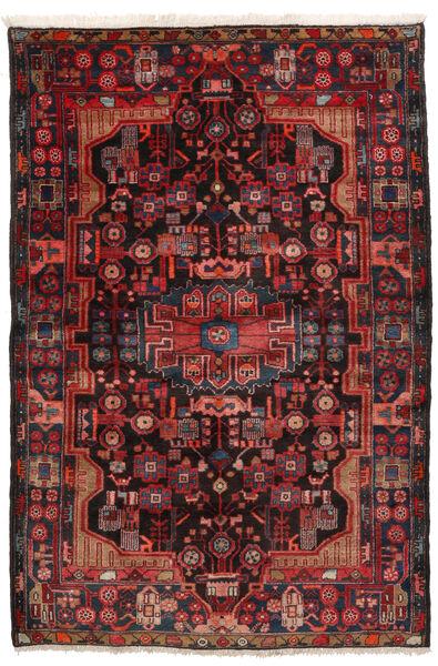 Nahavand Matta 152X245 Äkta Orientalisk Handknuten Mörkröd/Svart (Ull, Persien/Iran)