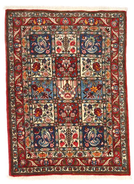 Bakhtiar Collectible Matta 105X140 Äkta Orientalisk Handknuten Mörkbrun/Mörkröd (Ull, Persien/Iran)