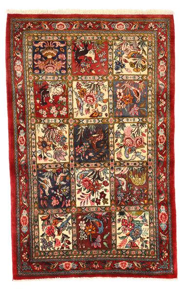 Bakhtiar Collectible Matta 108X171 Äkta Orientalisk Handknuten Mörkröd/Mörkbrun (Ull, Persien/Iran)