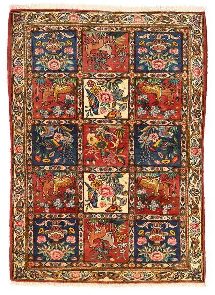 Bakhtiar Collectible Matta 115X155 Äkta Orientalisk Handknuten Mörkbrun/Röd (Ull, Persien/Iran)