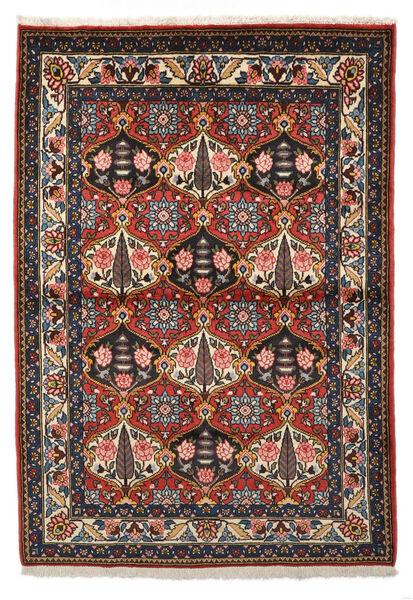 Bakhtiar Collectible Matta 105X150 Äkta Orientalisk Handknuten Mörkröd/Mörkbrun (Ull, Persien/Iran)
