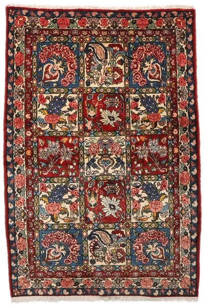 Bakhtiar Collectible Matta 107X156 Äkta Orientalisk Handknuten Mörkbrun/Mörkröd (Ull, Persien/Iran)