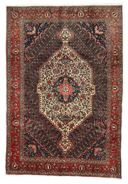 Bakhtiar Collectible Matta 202X297 Äkta Orientalisk Handknuten Mörkgrå/Mörkröd (Ull, Persien/Iran)