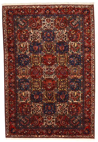 Bakhtiar Collectible Matta 210X310 Äkta Orientalisk Handknuten Mörkröd/Svart (Ull, Persien/Iran)