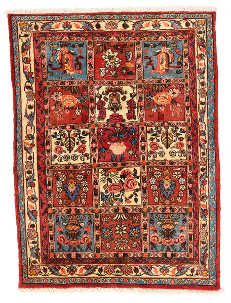 Bakhtiar Collectible Matta 106X140 Äkta Orientalisk Handknuten Roströd/Mörkröd (Ull, Persien/Iran)