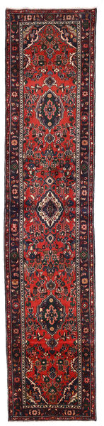 Lillian Matta 80X371 Äkta Orientalisk Handknuten Hallmatta Mörkröd/Roströd (Ull, Persien/Iran)