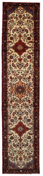 Rudbar Matta 83X385 Äkta Orientalisk Handknuten Hallmatta Mörkröd/Mörkbrun (Ull, Persien/Iran)
