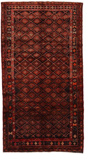 Hamadan Matta 147X272 Äkta Orientalisk Handknuten Mörkröd (Ull, Persien/Iran)
