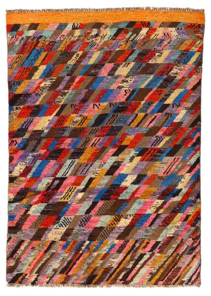 Moroccan Berber - Afghanistan Matta 121X175 Äkta Modern Handknuten Mörkbrun/Mörkröd (Ull, Afghanistan)