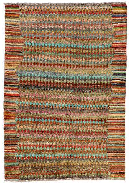 Moroccan Berber - Afghanistan Matta 124X180 Äkta Modern Handknuten Brun/Pastellgrön (Ull, Afghanistan)