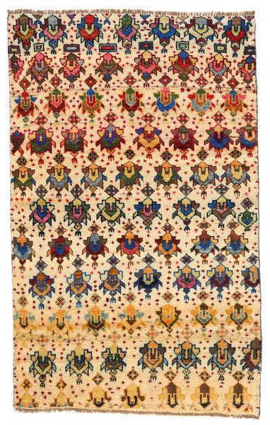 Moroccan Berber - Afghanistan Matta 114X184 Äkta Modern Handknuten Beige/Mörkbeige (Ull, Afghanistan)