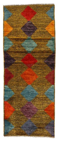 Moroccan Berber - Afghanistan Matta 75X191 Äkta Modern Handknuten Hallmatta Brun (Ull, Afghanistan)