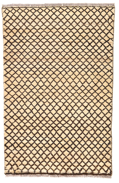 Moroccan Berber - Afghanistan Matta 74X116 Äkta Modern Handknuten Beige/Mörkbeige/Mörkbrun (Ull, Afghanistan)