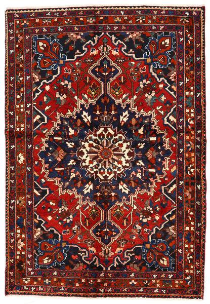 Bakhtiar Matta 142X208 Äkta Orientalisk Handknuten Mörkblå/Mörkröd/Roströd (Ull, Persien/Iran)