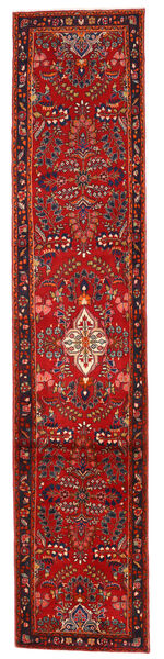 Lillian Matta 83X393 Äkta Orientalisk Handknuten Hallmatta Mörkröd/Roströd (Ull, Persien/Iran)