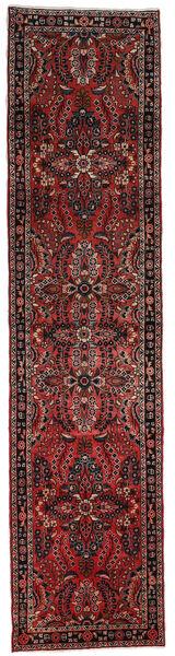 Lillian Matta 80X332 Äkta Orientalisk Handknuten Hallmatta Mörkröd/Mörkbrun (Ull, Persien/Iran)