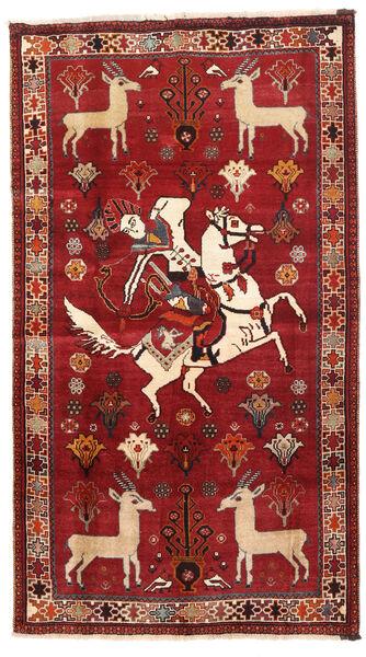 Ghashghai Matta 103X186 Äkta Orientalisk Handknuten Mörkröd/Roströd (Ull, Persien/Iran)