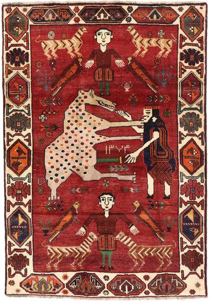 Ghashghai Matta 120X172 Äkta Orientalisk Handknuten Mörkröd/Mörkbrun (Ull, Persien/Iran)
