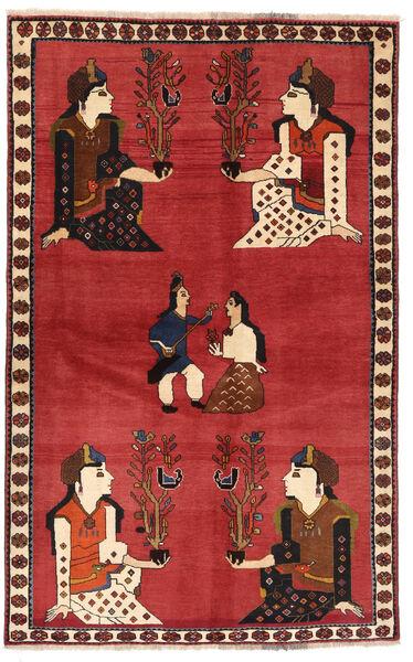Ghashghai Matta 128X200 Äkta Orientalisk Handknuten Roströd/Mörkröd (Ull, Persien/Iran)