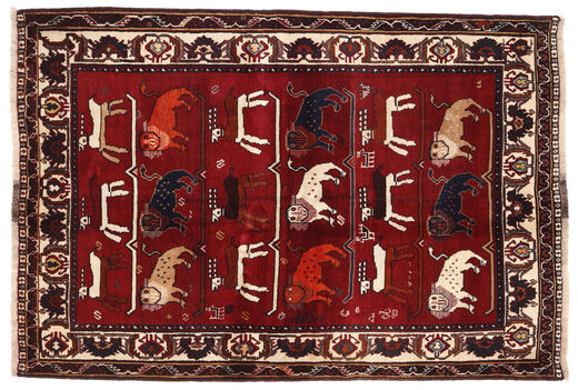 Ghashghai Matta 127X186 Äkta Orientalisk Handknuten Mörkröd/Mörkbrun (Ull, Persien/Iran)