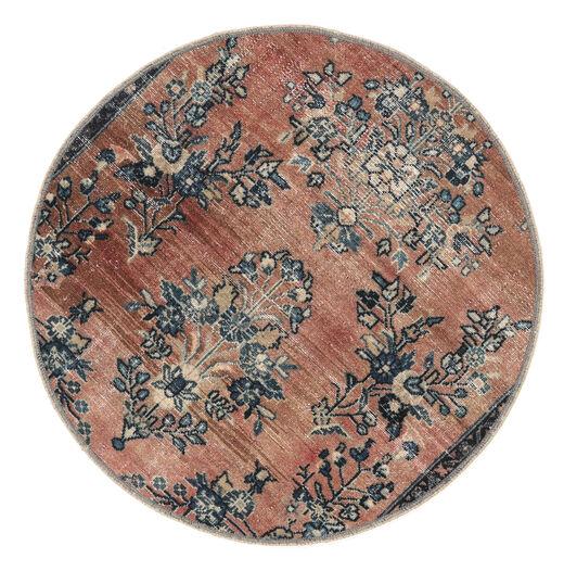 Vintage Heritage Matta Ø 100 Äkta Modern Handknuten Rund Ljusbrun/Svart (Ull, Persien/Iran)