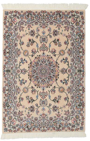Nain 9La Matta 99X145 Äkta Orientalisk Handknuten Ljusbrun/Svart (Ull/Silke, Persien/Iran)
